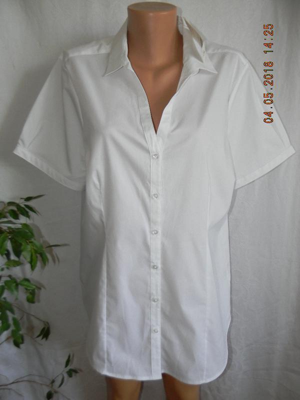 Новая белая блуза-рубашка george