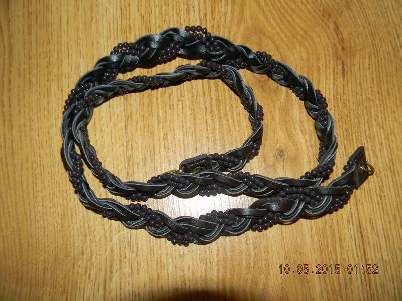 Пояс плетеный комбинированный