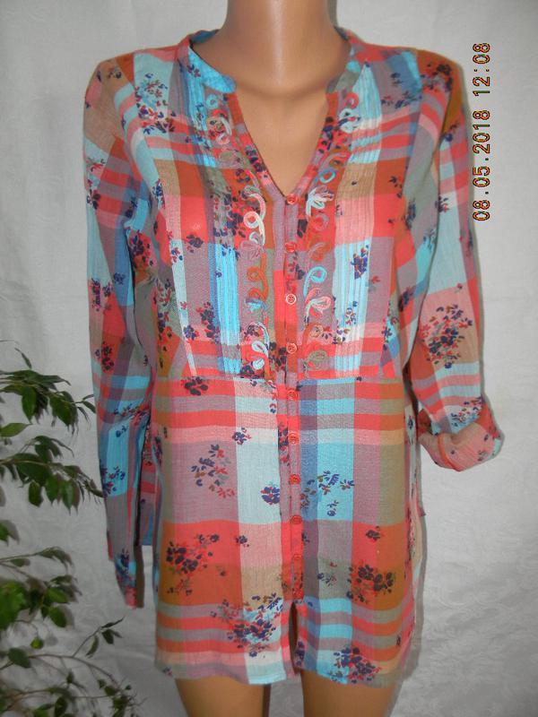 Легкая натуральная блуза-рубашка