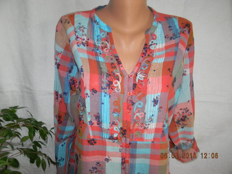Легкая натуральная блуза-рубашка - Фото 2