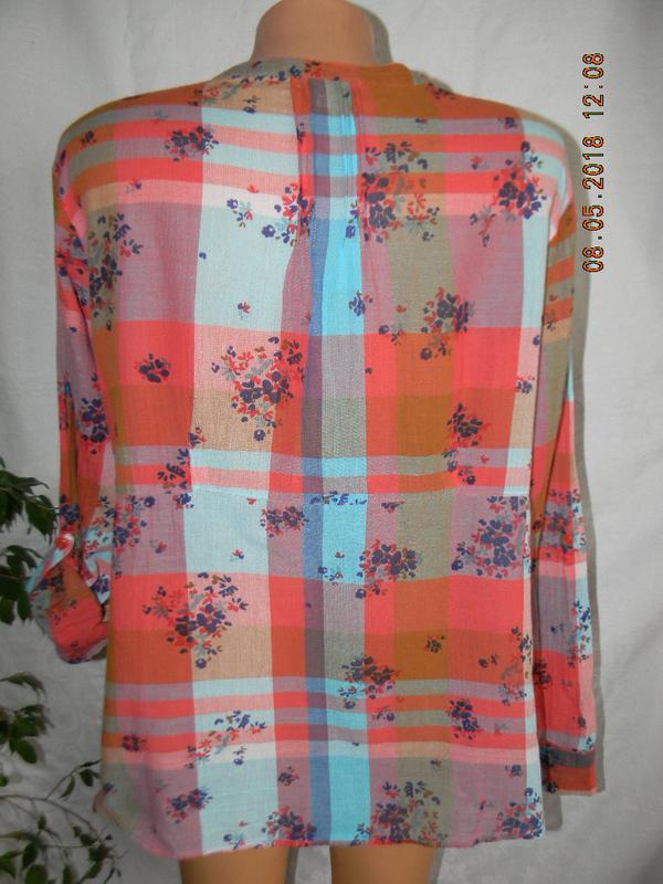Легкая натуральная блуза-рубашка - Фото 3
