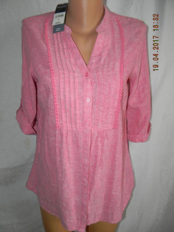 Новая блуза лен bonmarche