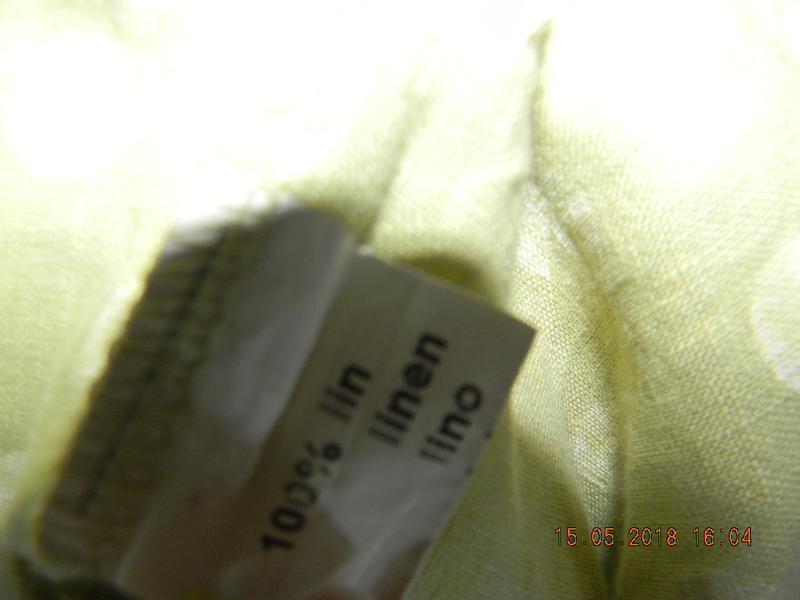 Блуза с горошек лен италия - Фото 5