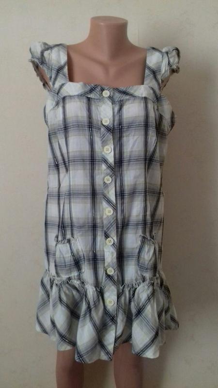 Новое натуральное платье-туника