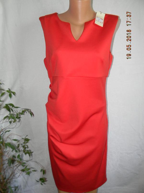 Элегантное новое красное платье papaya