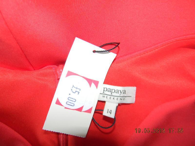 Элегантное новое красное платье papaya - Фото 4