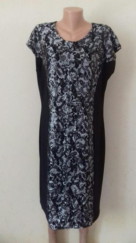 Красивое элегантное платье с кружевом и пайетками