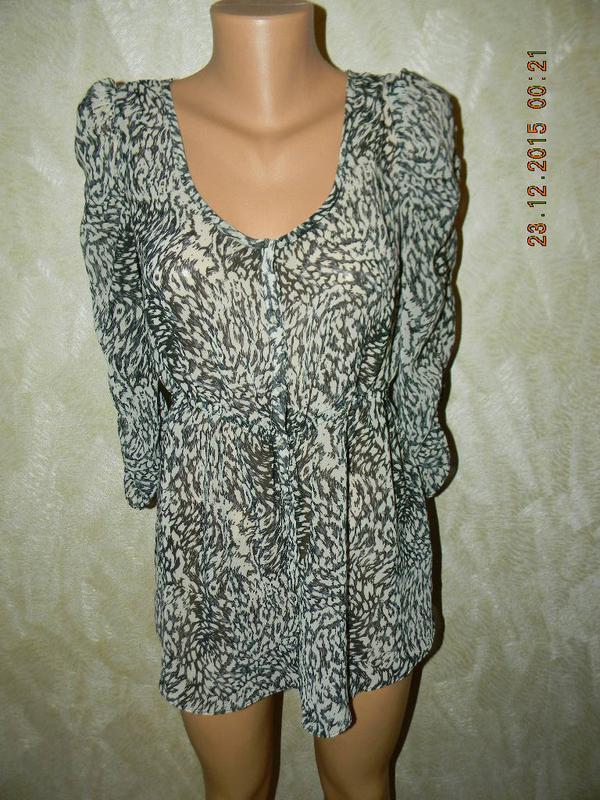 Шифоновая блуза-туника с принтом