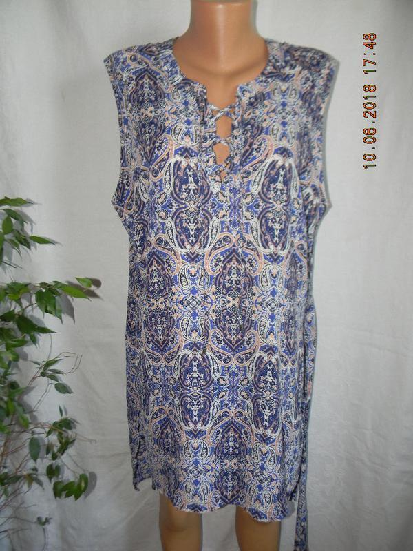 Легкая блуза туника большого размера peacocks