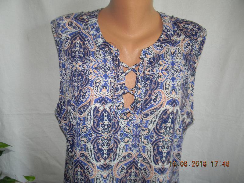 Легкая блуза туника большого размера peacocks - Фото 3