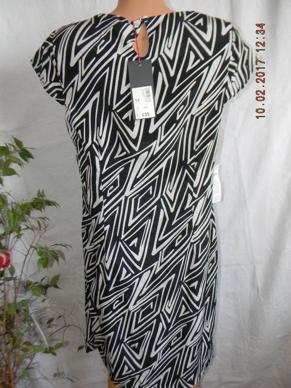 Платье новое прямого кроя с принтом klass - Фото 2