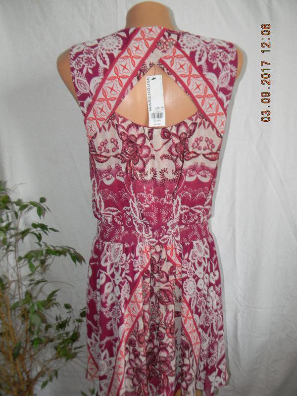Новое  платье с принтом warehouse - Фото 3
