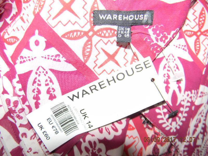 Новое  платье с принтом warehouse - Фото 4