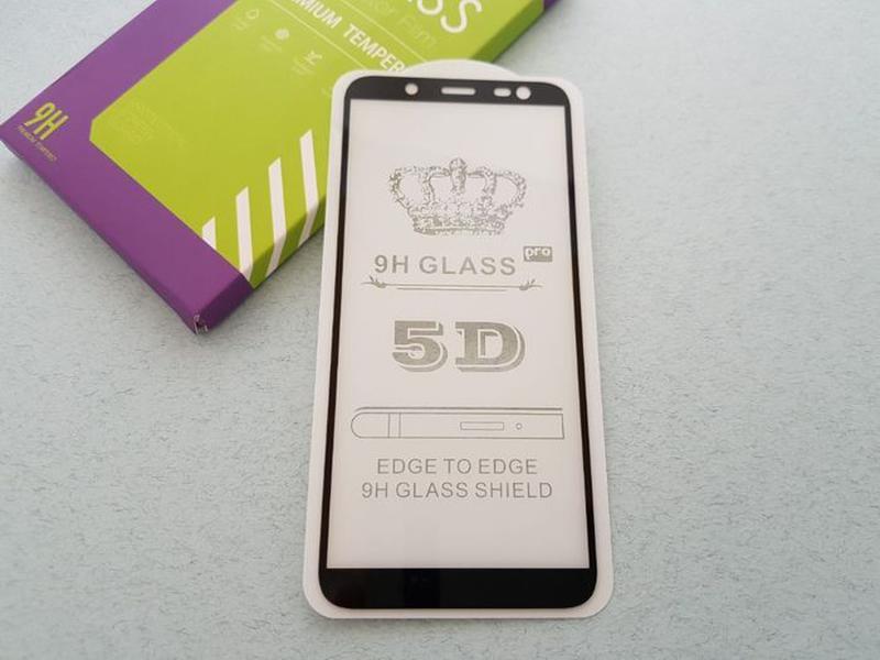 Samsung Galaxy J8 J6 J6+ J4+ J4 стекло защитное ПОЛНОЕ 5D скло... - Фото 4