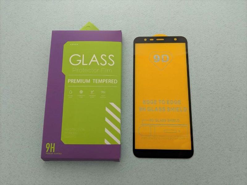 Samsung Galaxy J8 J6 J6+ J4+ J4 стекло защитное ПОЛНОЕ 5D скло... - Фото 5