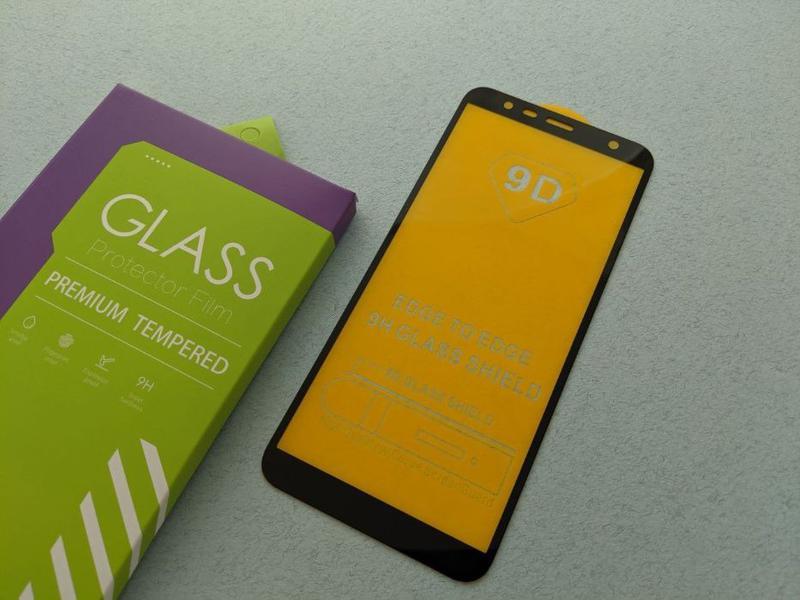 Samsung Galaxy J8 J6 J6+ J4+ J4 стекло защитное ПОЛНОЕ 5D скло... - Фото 6