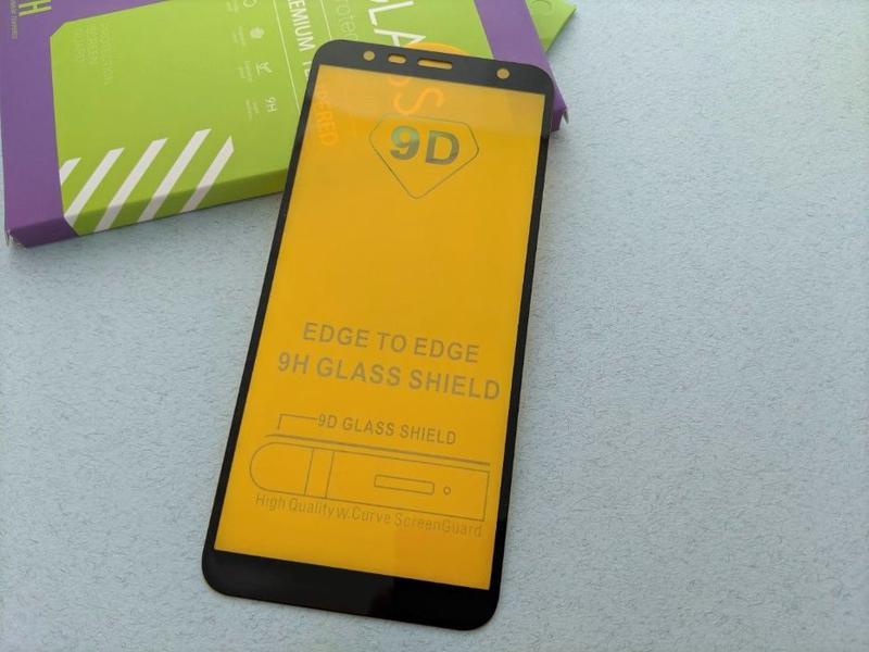 Samsung Galaxy J8 J6 J6+ J4+ J4 стекло защитное ПОЛНОЕ 5D скло... - Фото 7