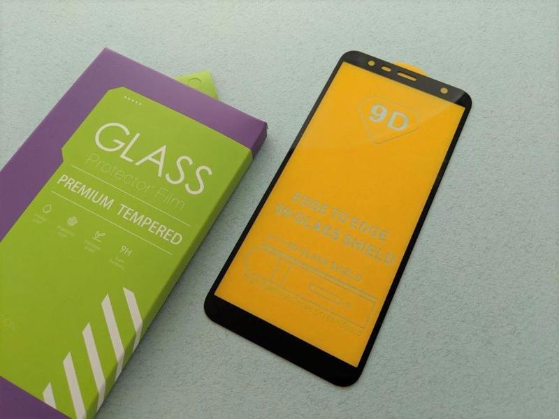 Samsung Galaxy J8 J6 J6+ J4+ J4 стекло защитное ПОЛНОЕ 5D скло... - Фото 8