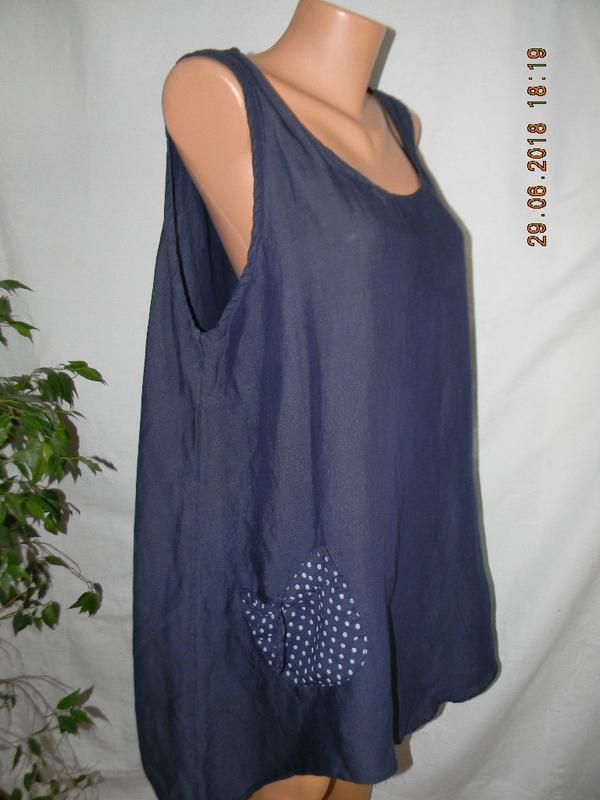Блуза- туника лен италия - Фото 2