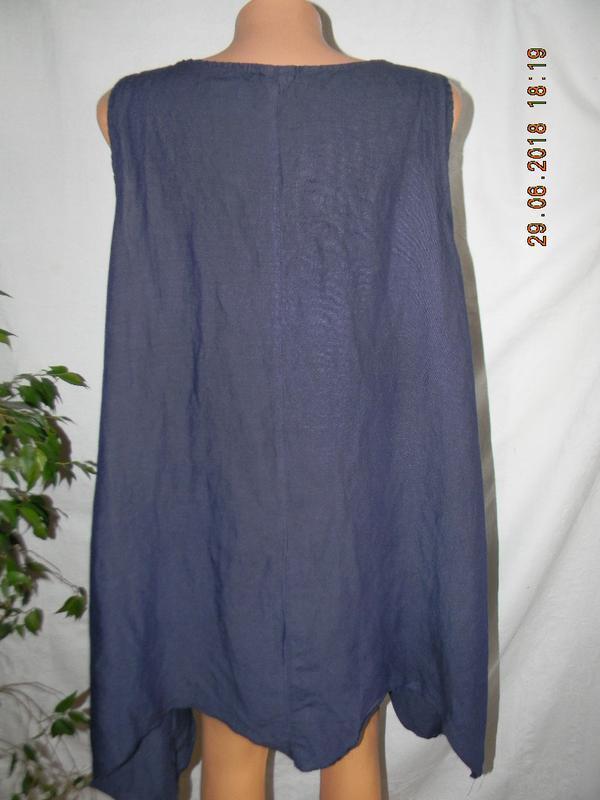 Блуза- туника лен италия - Фото 3