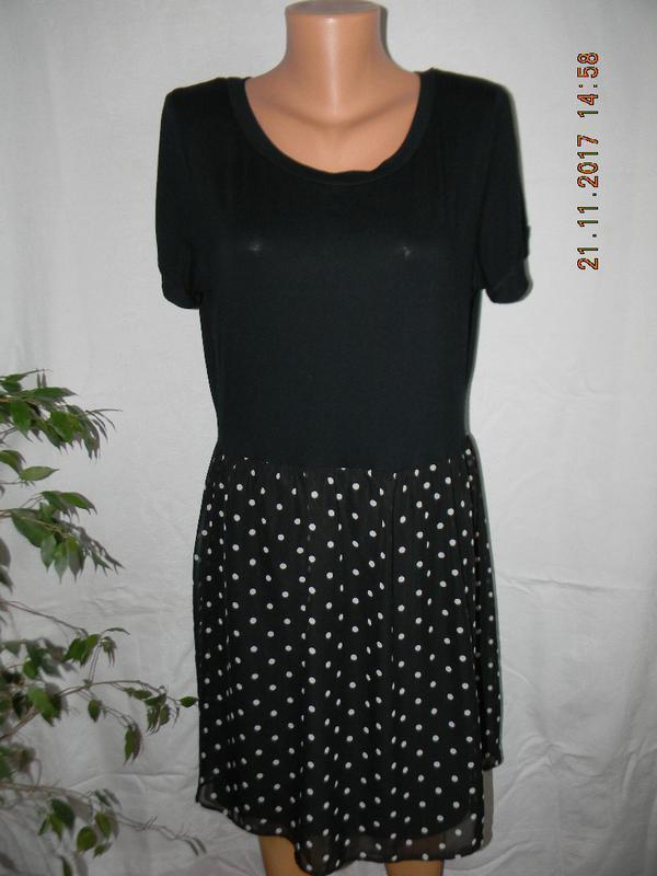 Комбинированное платье в горошек george