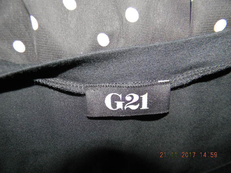 Комбинированное платье в горошек george - Фото 4