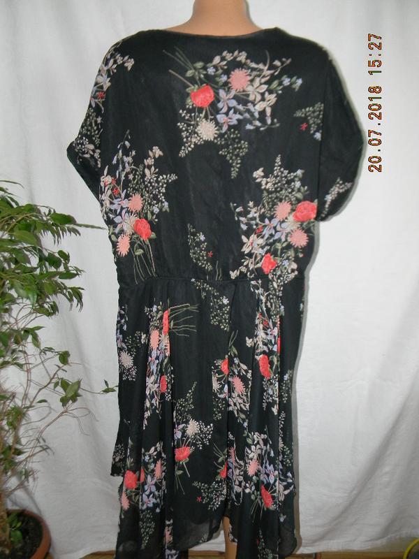 Шифоновое платье большого размера - Фото 4