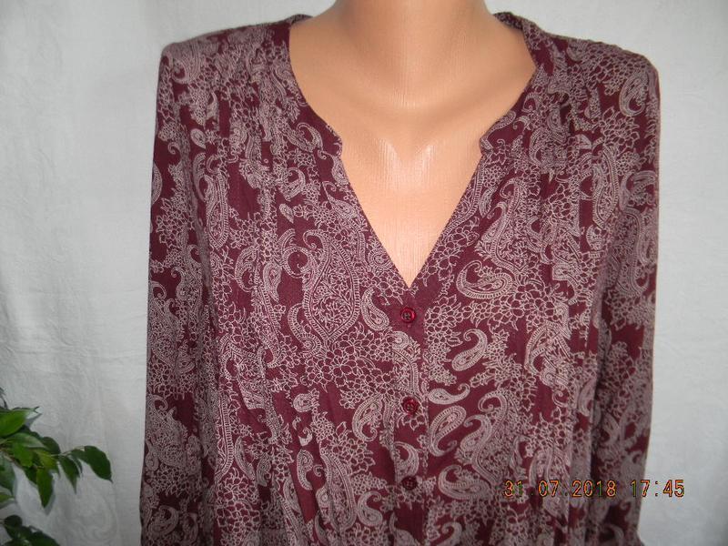 Натуральная легкая блуза - Фото 2
