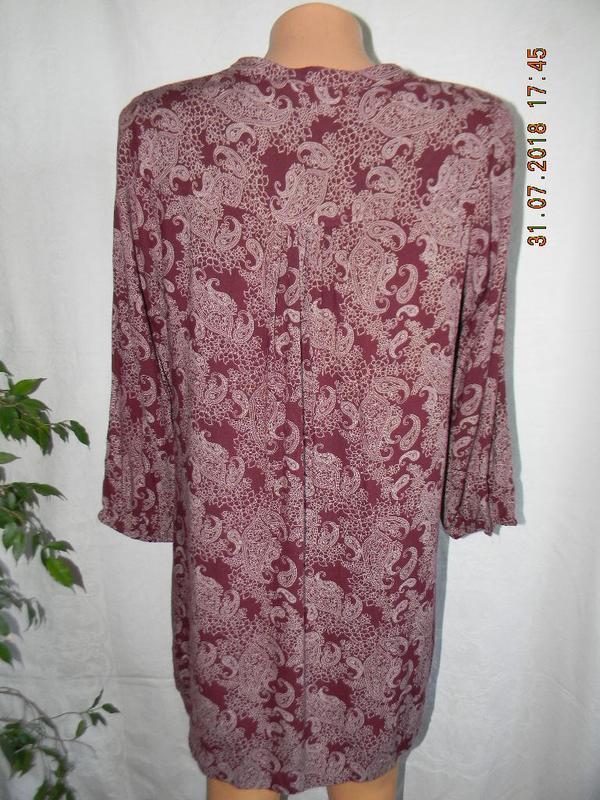Натуральная легкая блуза - Фото 3