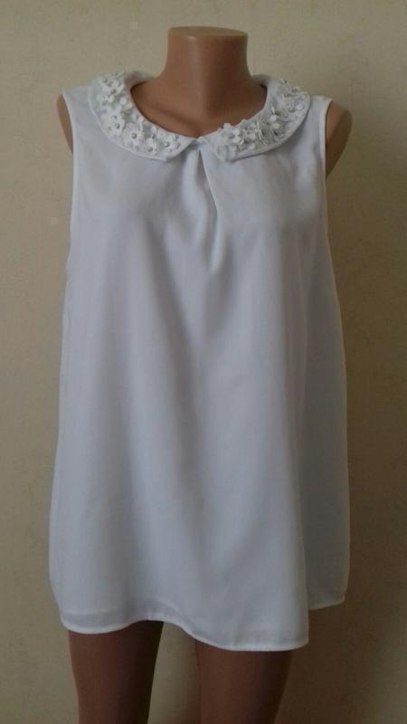 Распродажа!!!блуза с красивым воротничком george
