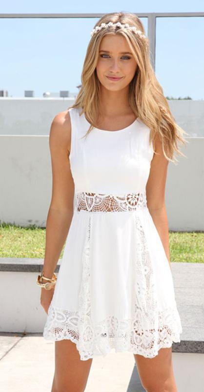 Распродажа!!!белоснежное летнее платье с кружевом