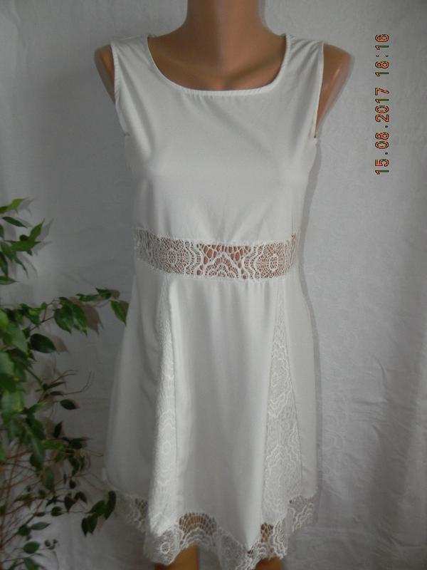 Распродажа!!!белоснежное летнее платье с кружевом - Фото 2