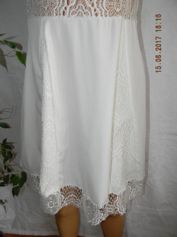 Распродажа!!!белоснежное летнее платье с кружевом - Фото 3