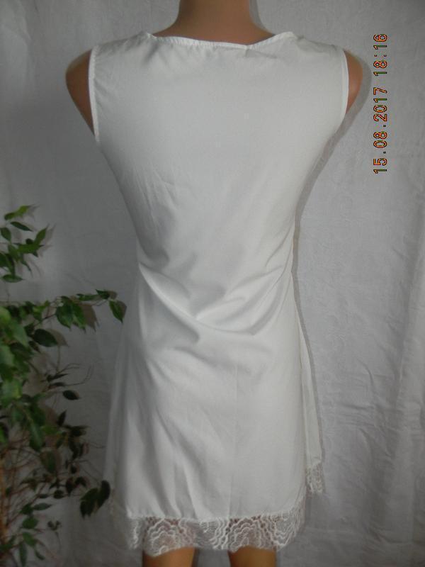 Распродажа!!!белоснежное летнее платье с кружевом - Фото 4