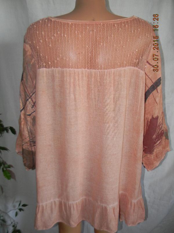 Блуза лен италия большого размера - Фото 2