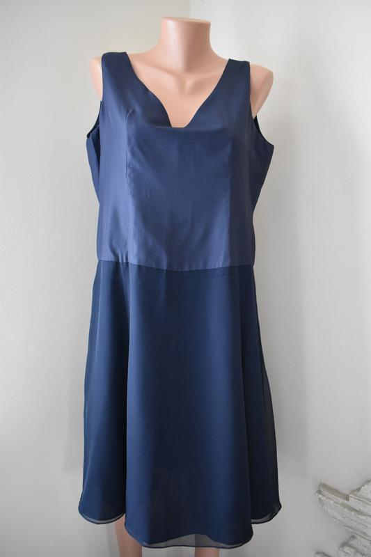 Элегантное синее платье