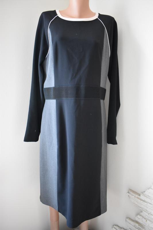 Осеннее элегантное  платье большого размера next