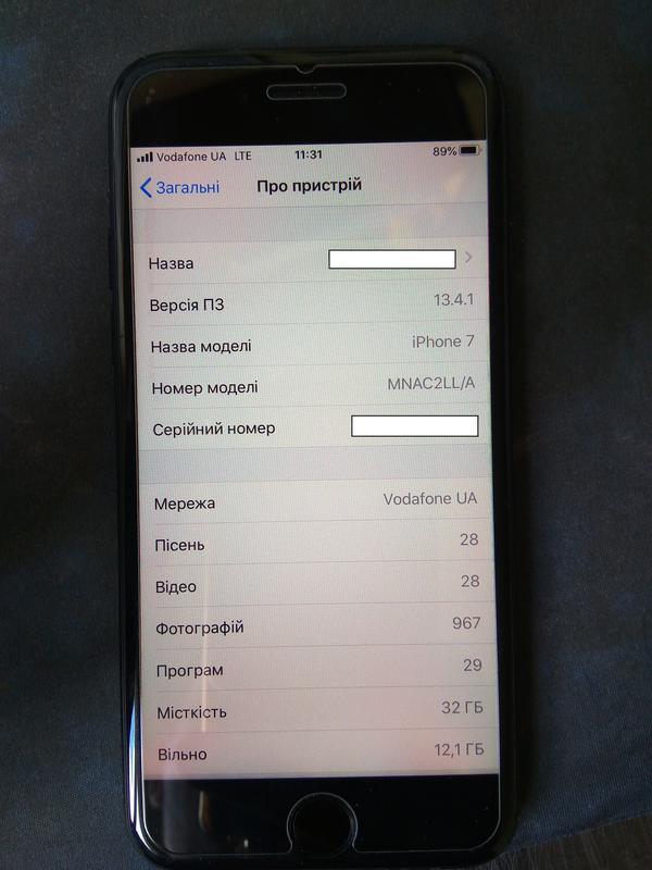 Apple iPhone 7 32GB Neverlock (Black Matte) - Фото 2
