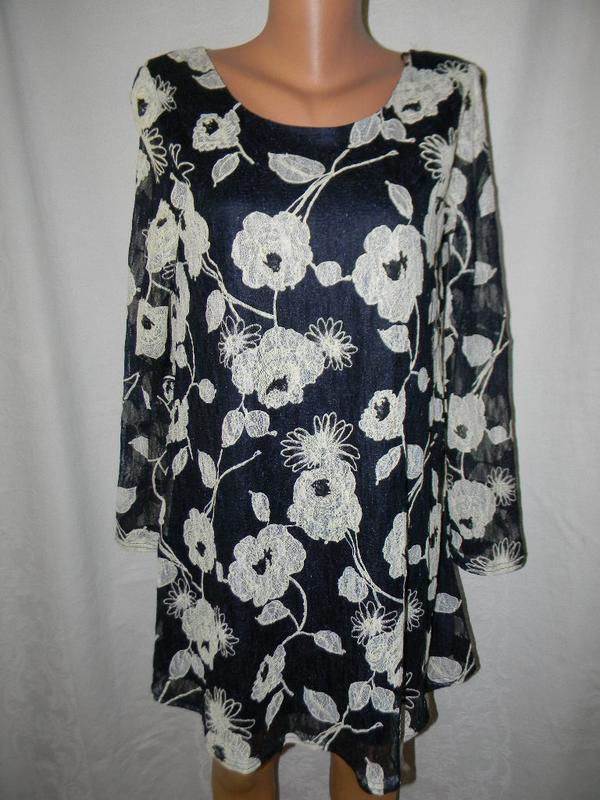 Новое кружевное платье туника rare london