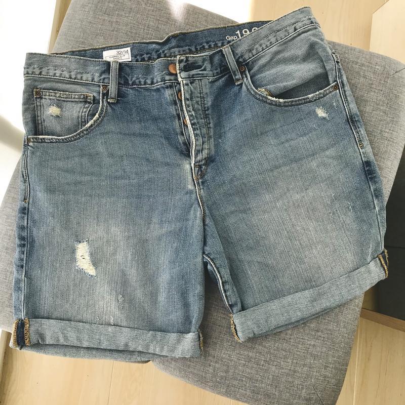 Шорти джинсові gap шорты джинсовые - Фото 8