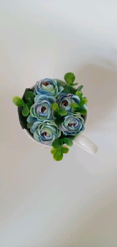 Декор, чашка з квітами - Фото 2