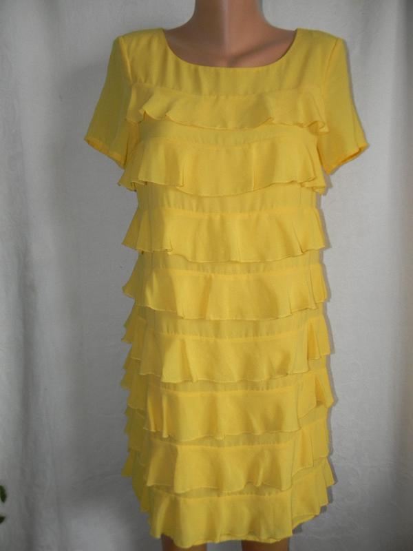 Красивое платье с оборками h&m