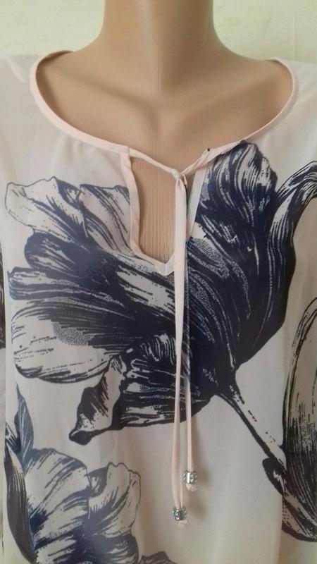 Нежная шифоновая блуза с принтом - Фото 2