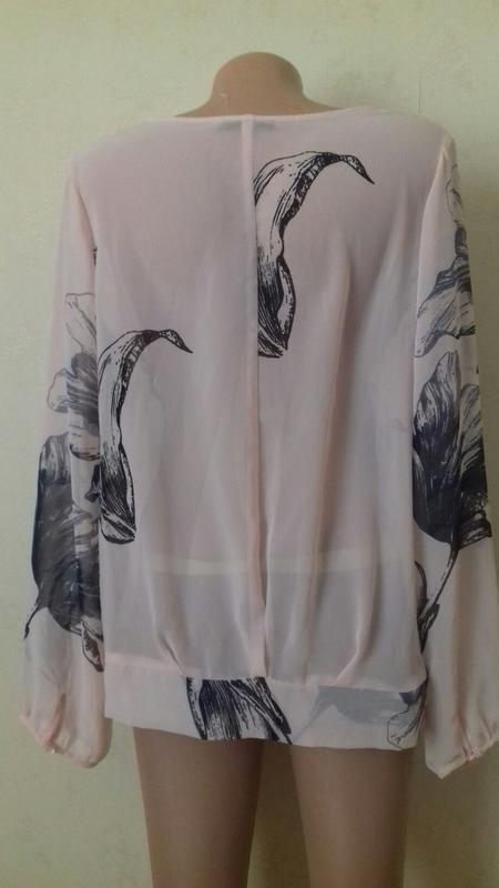 Нежная шифоновая блуза с принтом - Фото 3