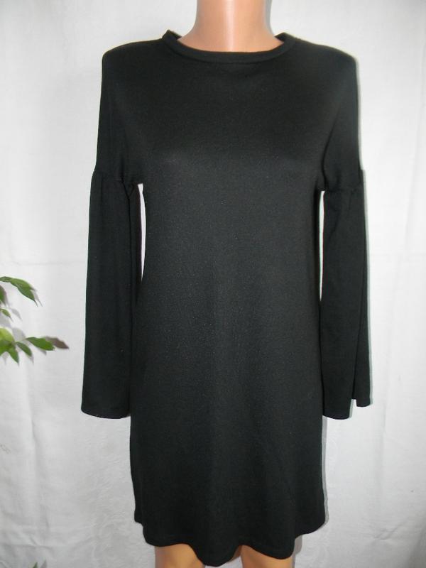 Теплое трикотажное платье zara