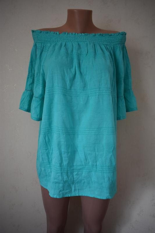 Новая натуральная блуза большого размера