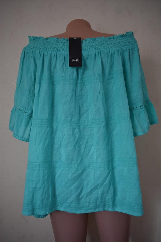 Новая натуральная блуза большого размера - Фото 3
