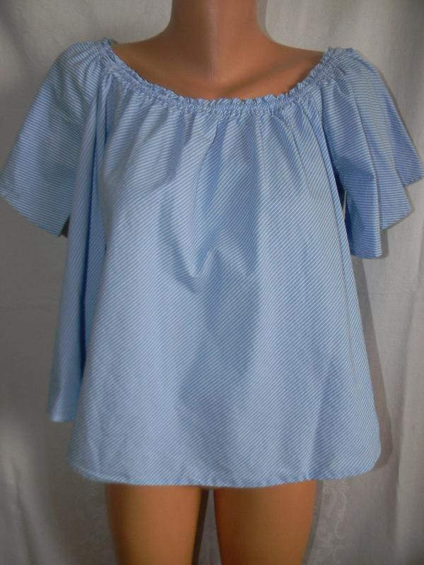 Новая блуза в полоску с открытыми плечами new look