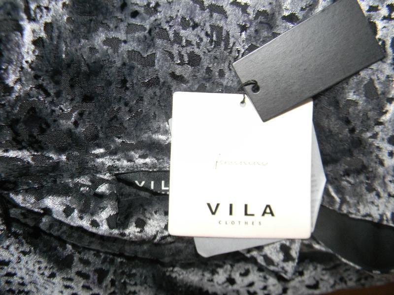 Новое красивое велюровое платье vila - Фото 4