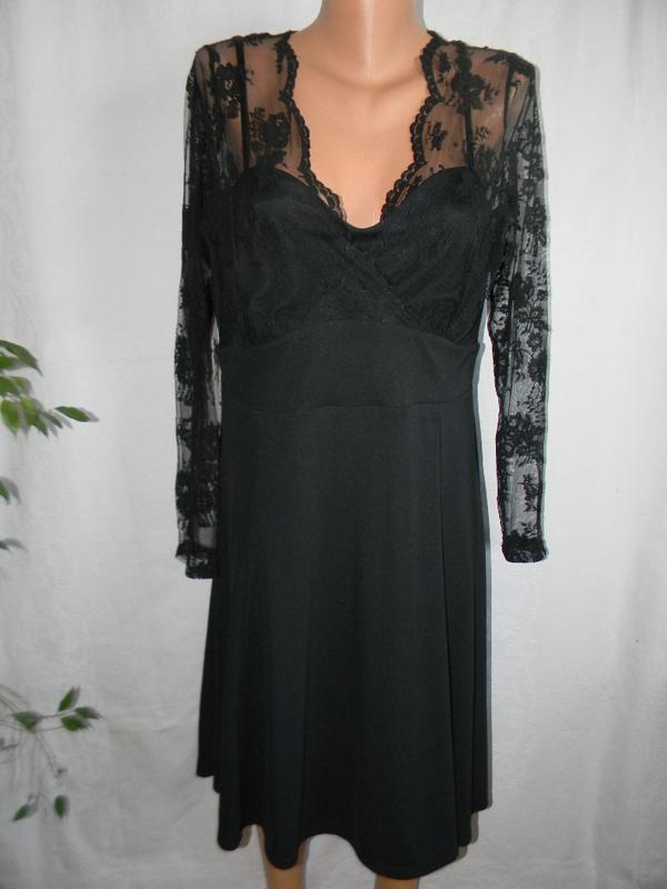 Красивое платье с кружевом  большого размера next